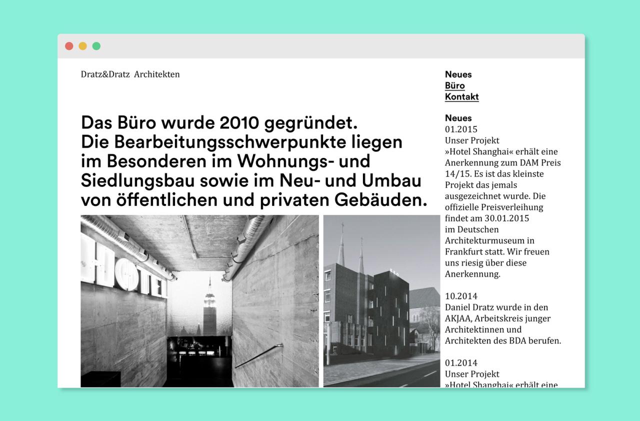 Katrin Behrens Dratz&Dratz Architekten Website