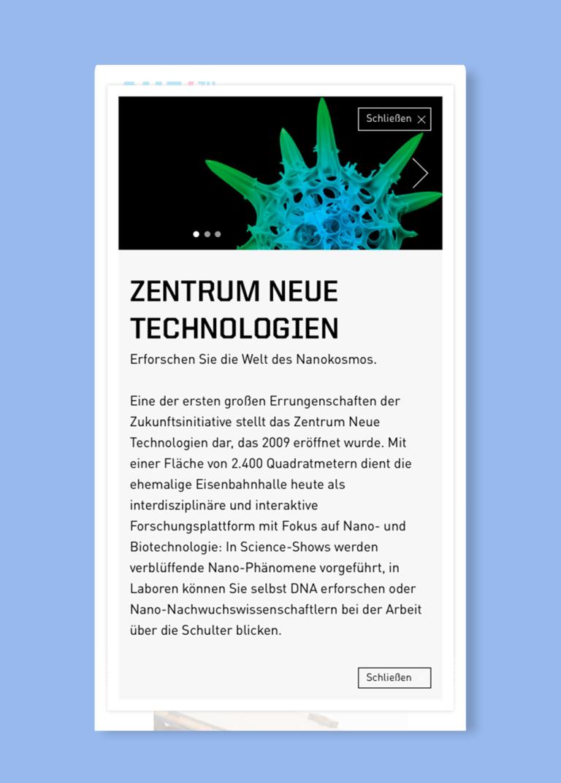 Katrin Behrens Deutsches Museum München, Microsite